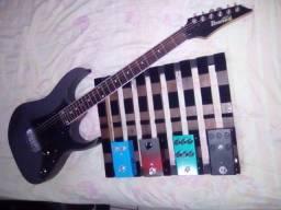Guitarra Ibanez + set de pedais handmade