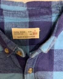 Camisa Zara infantil flanela TAM 7