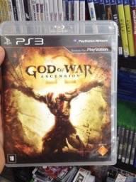 Jogo usado God of War Ascension ps3. Retirada no Portão.