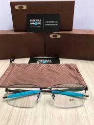 Óculos Oakley Tincup Titânio blue armação de alumínio nova