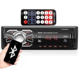 Radio Mp3 Automotivo Com Bluetooth Usb Fm Sd