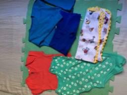 Kit roupa de bebê menino 1 ano