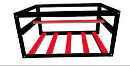 Rig frame colorida até 6 placas