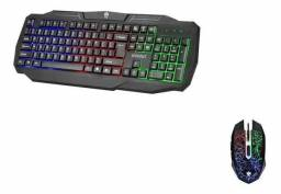 Kit teclado + mouse gamer com led USB novo e com garantia