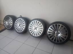 Rodas aro 17 pneus semi novos