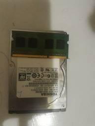 HD 500 GB pente de memoria dd3 4 gb