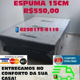 CAMA BOX CASAL GOLD LUXO 15CM