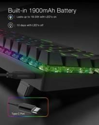 Teclado sem fio mecânico-RGB/Bluetooth BlitzWolf BW-Kb1 Switch vermelho Novo na caixa