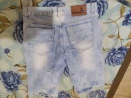 2 bermudas a branca nova a jeans usada poucas vezes n 38