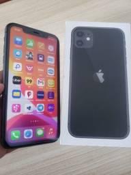 IPhone 11 com 64gb caixa e carregador nota fiscal tudo ok