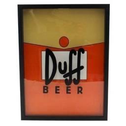 Quadro Porta Tampinhas E Abridor Duff Beer - Os Simpsons