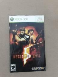 Encarte Resident Evil 5 Xbox 360 Original