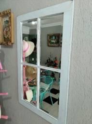 Espelho - Moldura Madeira de Demolição