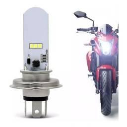 Lâmpada Moto Led Efeito Xenon H4 6500k