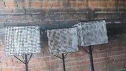 Lixeiras de Chapa Galvanizada Perfurada
