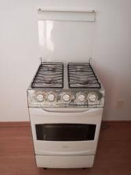 Fogao Continental Astra,4 bocas inox e bandeja de inox,2 grades no forno
