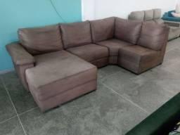Sofa de canto higienizado com chaise