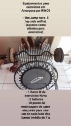 Equipamentos de ginástica e musculação por 600 reais