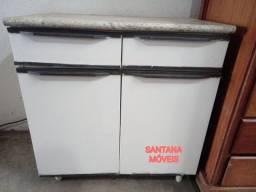 Balcão de aço p/ cozinha 2 portas. 0.77 x 0.46 x 0.81 Alt.