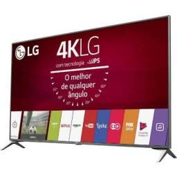 "Smart TV led 49"" LG 49UJ6525 Com Conversor Digital 4 HDMI 2 USB Painel Ips, Hdr e Magic Mo"