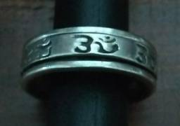 Anel de prata giratoria