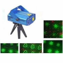 Mini Laser Stage Lighting Projetor Holográfico Tripé