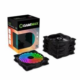Kit 4xFan(Cooler) RGB GameMax 120mm RGB com controladora e controle remoto! (NOVO)
