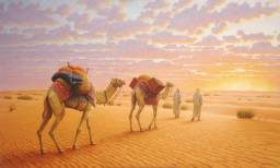 Pintura A Óleo Edilson Barbosa (cena Arabe)