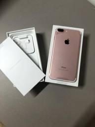IPhone 7 Plus 128 Gigas Rose completo Novo Lacrado 1 ano de garantia divido no cartão