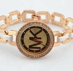 Relógio feminino mk luxo