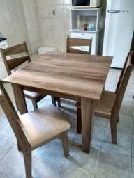 Mesa de cozinha em mdf com 4 cadeiras