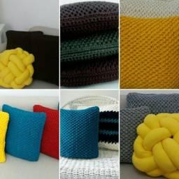Almofadas Crochet Tunisiano