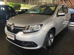 Renault Logan 1.6 Expression Avantage, Manual, Completo, Prata, 14.000km, Carro Extra - 2018