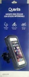 Suporte celular a prova D'água para moto