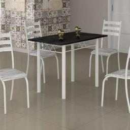 Pague na entrega - Mesa Retangular 100×60 Com 4 Cadeiras Conjunto Ipanema Tampo granito