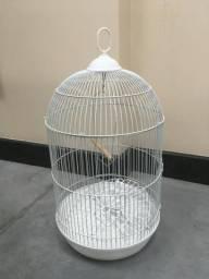 Gaiola alta e redonda para pássaros + acessórios