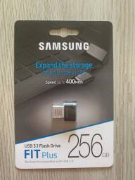 Pendrive Samsung Fit Plus 256gb Titan Grey Original Lacrado