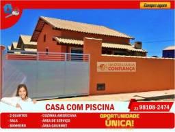 GS-2003 Casa Maravilhosa com piscina e área gourmet em Unamar