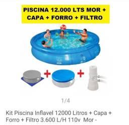 Vendo ou troca piscina Mor 12 mil litros