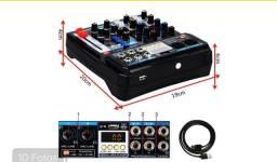 Mesa De Som 6 Canais Mixer Bluetooth Player Digital Usb-mini