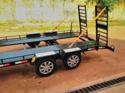 Carretinha reboque carreta tipo plataforma guincho