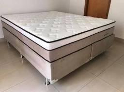 ::: Cama Box Colchao Plumatex Ilheus Queen Size 158x198 A Pronta Entrega