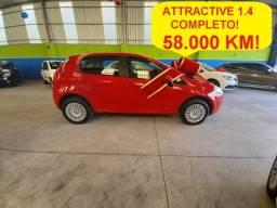Fiat Punto Attract 1.4 completo, apenas 58.000 km, novíssimo (4.900ent + 60x de 739,00)