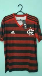 Camisa do Flamengo Rubro Negra Masculina 2019/20