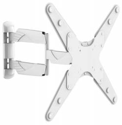 Suporte TV Branco articulado Ultra Slim (apenas 4,5cm da parede quando fechado)