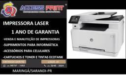 impressora multifuncional hp color laserjet pro mfp m277dw