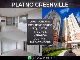 Platno Greenville, 3 quartos em 110m² com 2 vagas de garagem em Patamares
