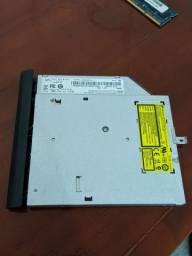 Leitor e Gravador CD DVD de Notebook