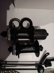 Cubos Shimano c/32 furos junto com os discos de freios