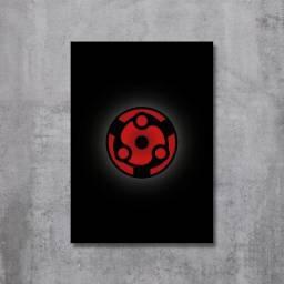 Placa Decorativa Naruto - Mangekyou Sharingan Madara (Eternal)
